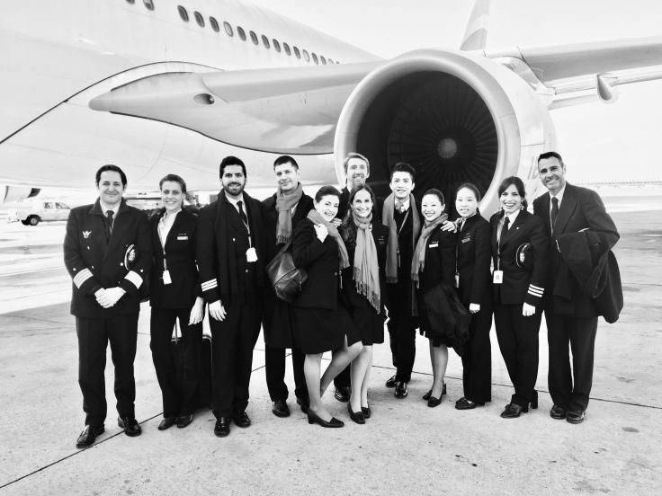 Mi tripulación el día de Nochebuena de 2017, vuelo a Shanghai
